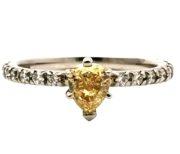 Ensteins diamantring med sidediamanter GG1501