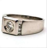 Herre diamantring GGM02